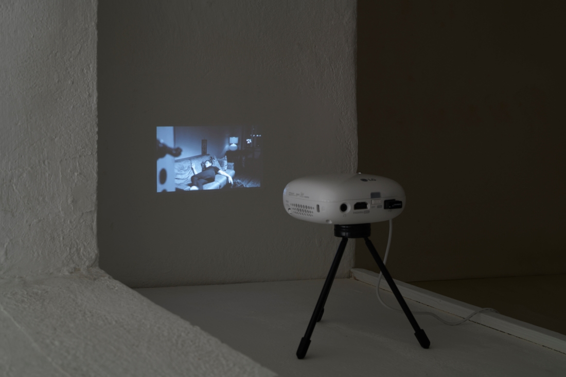 ZM-projector on shelf