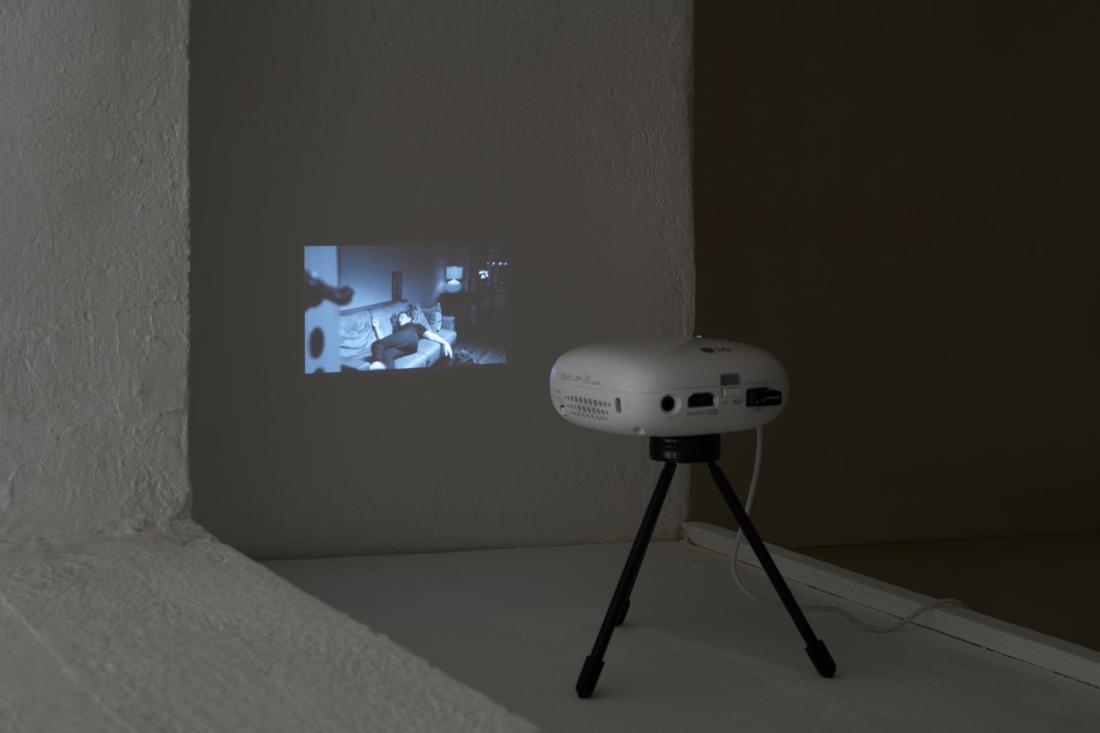 ZM-projector on shelf